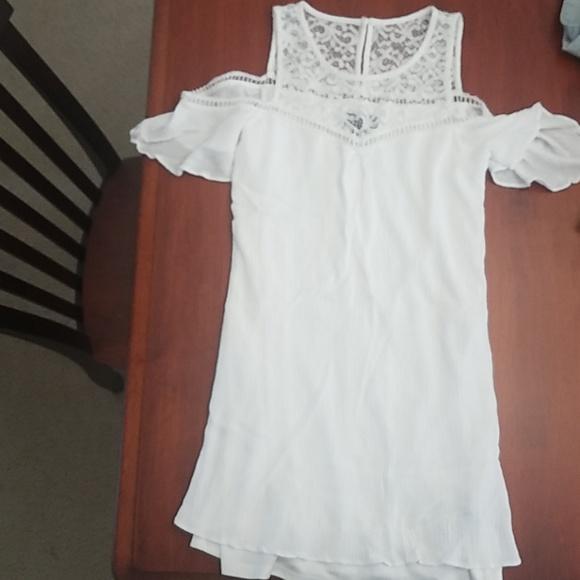 BCX Dresses & Skirts - Cream/white off the shoulder dress